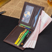 new Men Leather Credit Card Business wallet - sparklingselections