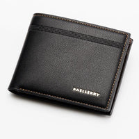new man retro striped ambossed short Wallet - sparklingselections