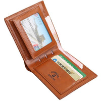 New Fashion Men Brown Billfold Coffee Leather Wallet - sparklingselections