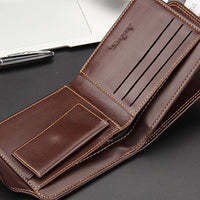 new men Fashion stylish Leather Wallet - sparklingselections
