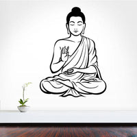 New Meditating Buddha DIY Removable Wall Sticker - sparklingselections