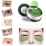 Women's 1 Set 60PCS Beauty Green Tea Powder Gel Collagen Eye Masks Sheet