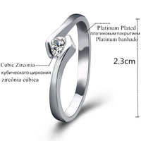Cubic Zircon Crystal Rings For Woman (Adjustable)