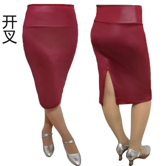 new Woman Sexy Spring Summer leather Skirt size sml