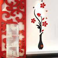 Removable 3D Flower Home Living Wall Sticker - sparklingselections