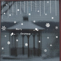 New Hot Santa Claus Christmas Windows Transparent Wall Sticker - sparklingselections