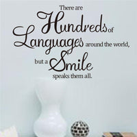 There Are Hundreds Of Languages Quotes Wall Sticker - sparklingselections