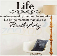 New Life Inspirational Quotes Black Wall Stickers - sparklingselections
