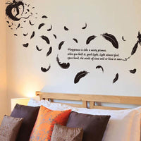 New Creative 3D Flying feather wall sticker - sparklingselections