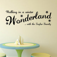 Walking In The Winter Vinyl Wall Stickers for Home Decor - sparklingselections
