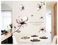 New Elegant Flowers Wall Stickers for Home Decor - sparklingselections