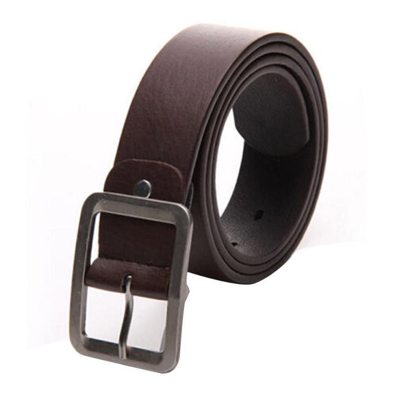 Faux Leather Men Casual Buckle Waist Strap Mens