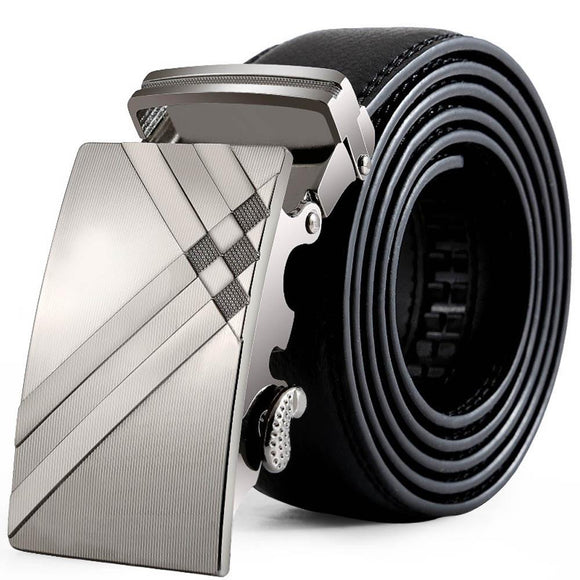 Men Leather Automatic Buckle Belts
