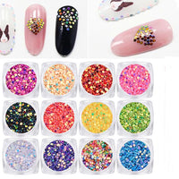 Crystal Nails Diamonds Dazzling Tips Nail Sticker 12 Box - sparklingselections