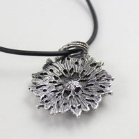 Hollow Flowers Black Leather Chain Statement Necklaces For Women