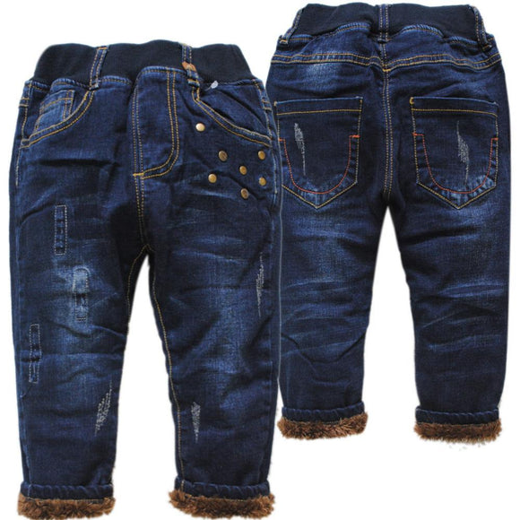 new very warm  kids jeans for winter size 234t