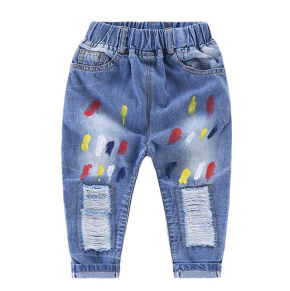 new denim spring autumn trousers for kids size 234t