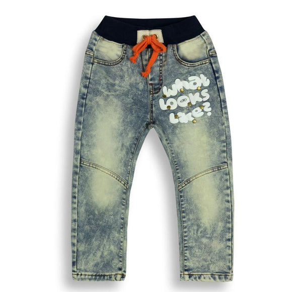 new Boy's printed letter pattern denim Jeans size 456t