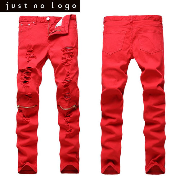 Men Skinny Slim Fit ripped Denim jeans for party