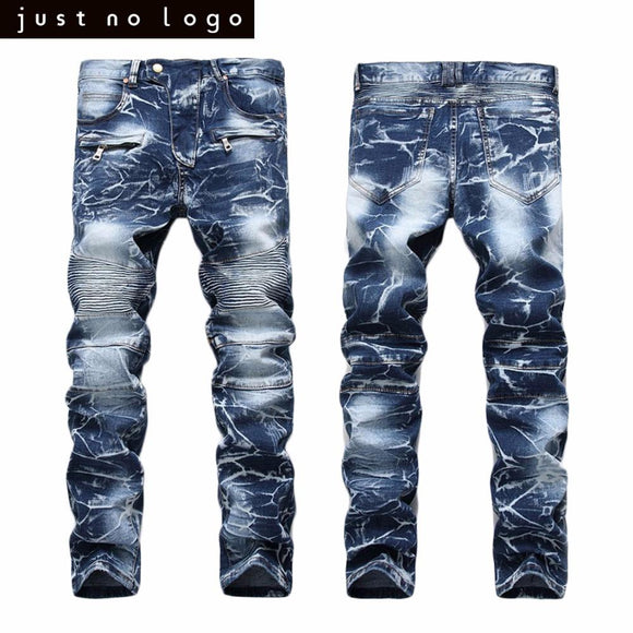 Mens Denim Biker Skinny Straight Slim Fit Jeans