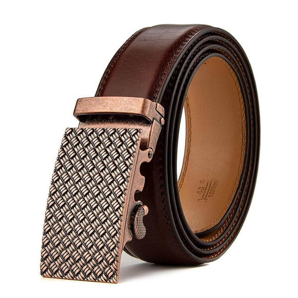 Mans Comfort Click Leather Belt