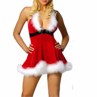 Women Sexy Christmas Festival  Red Costumes - sparklingselections
