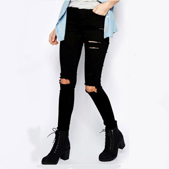 women Fashion slim Skinny stretch Jeans