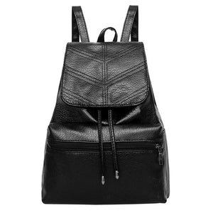 Women's Fashion Leather Travel Backpack
