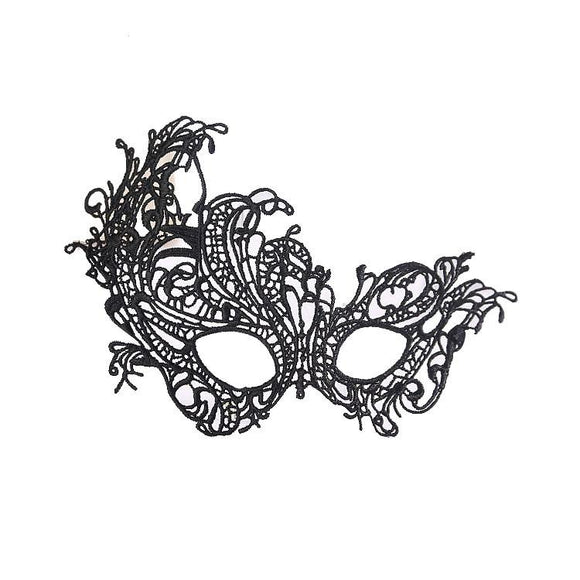 Catwoman Halloween Black Cutout Mask