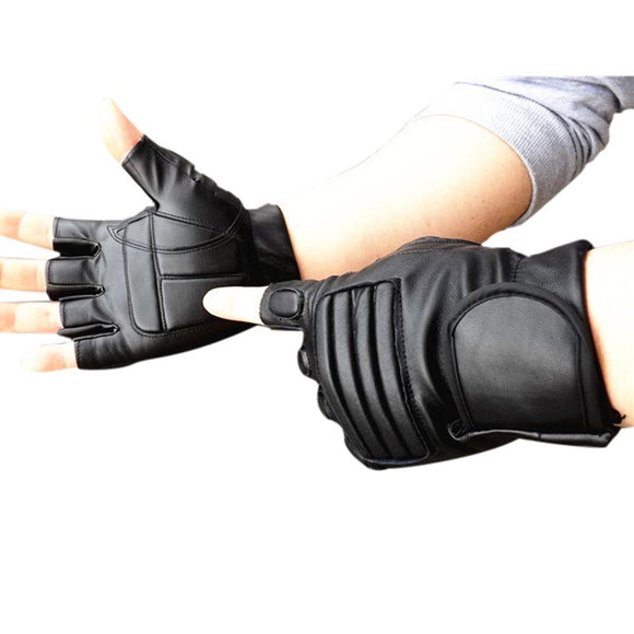 Artificial Leather Material Gym Gloves 1PC