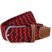Men's Stretch Braided Elastic Canvas Buckle Belt - sparklingselections