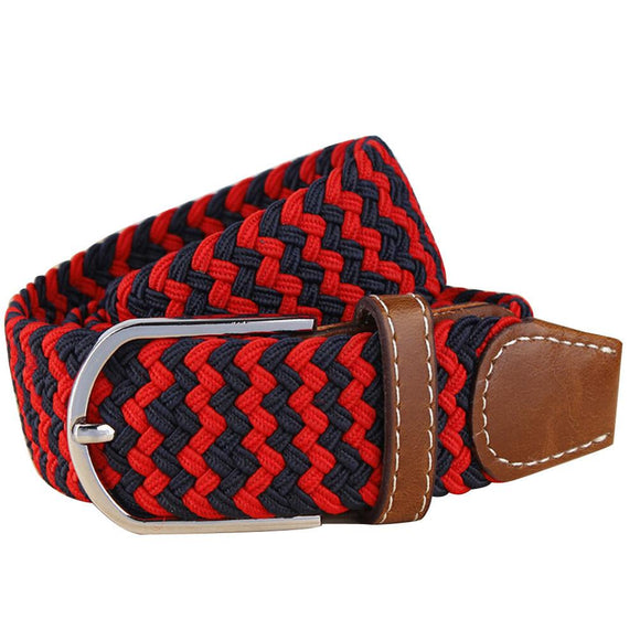 Men's Stretch Braided Elastic Canvas Buckle Belt