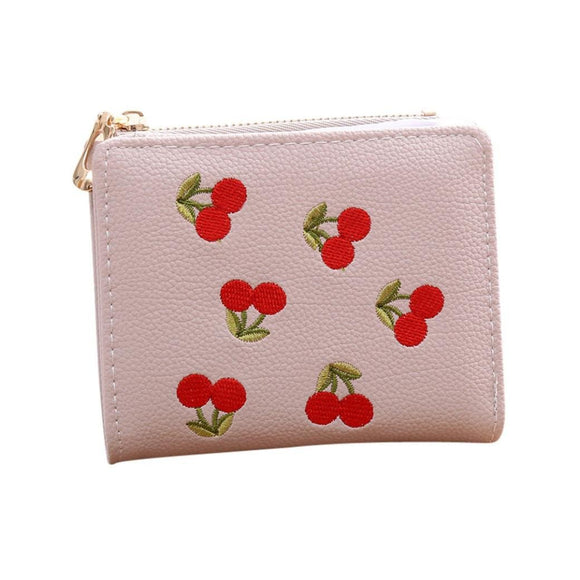 Women Fruit Embroidered Leather Stylish New Wallet