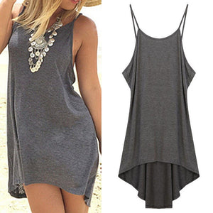 New women Sexy Backless summer Beach Mini Dress