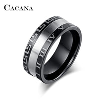 Roman Numerals Titanium Rings For Women - sparklingselections