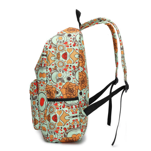 New Women stylish design Floral Printed School Bag