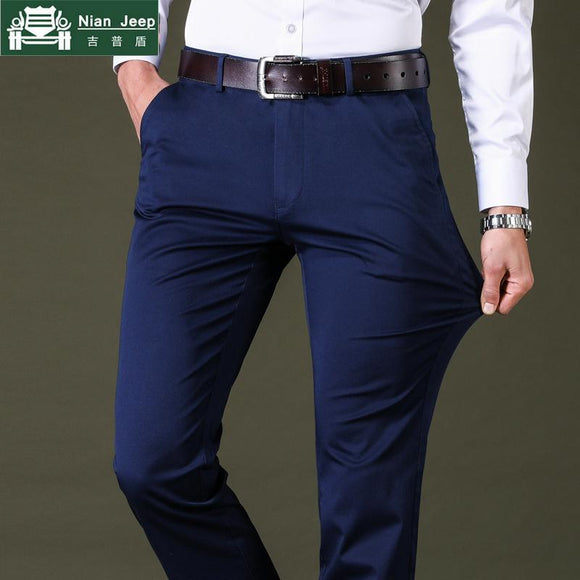 Spring Summer Casual Cotton Slim Fit Chinos