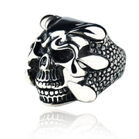 Gothic Skeleton Dragon Claw Ring for Men