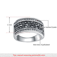 Black And White Genuine Austrian Crystal Trendy Rings For Women  (R150160283P)