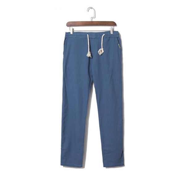 Men's Casual Linen Loose Linen Pants Men