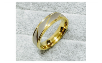 Simple Golden Stainless Steel Wedding Ring For Women (6,7,8,9)