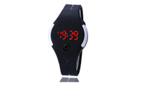Unisex LED Rubber Sports Wrist Watch With Date