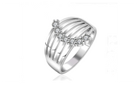 Silver Plated Finger Ring For Lady Female Ornaments Jewelry Lovers