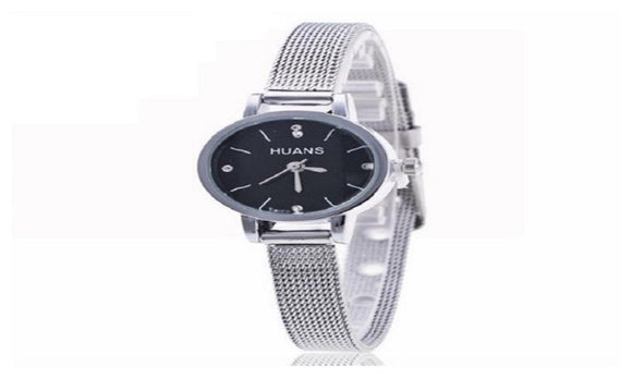 New Fashion Stainless Steel Rhinestone Quartz Wrist Watch