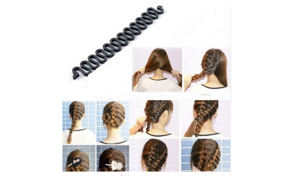 Roller Hook With Magic Hair Twist Styling Bun Maker Hair Band Accessor