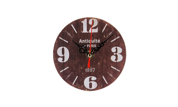 Silent Antique Wood digital Wall Clock For Home Office