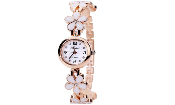 Flower Strap Dress Quartz Watch For Women