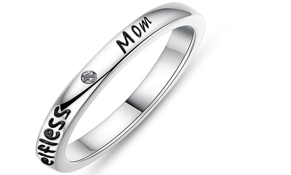 Silver Stackable Mom Rings for Women