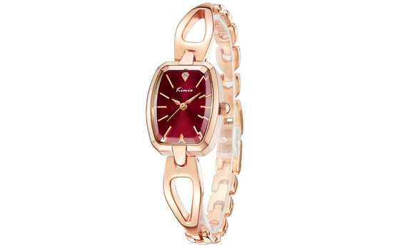 Rose Gold Bracelet Strap Wrist Quartz Watch