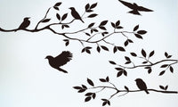 Removable Black Bird Tree Branch Monster Wall Paper Sticker